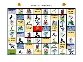 Sportarten (Sports in German) Schnecke snail game