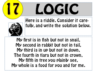 Logic Puzzle 17 of 20 (with solution)