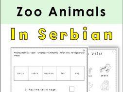 Serbian Zoo Animals Latin Alphabet