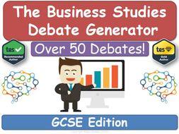 The Business Studies Debate Generator (GCSE)