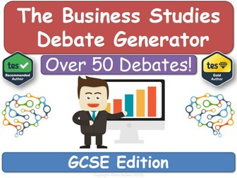 The Business Studies Debate Generator (GCSE)