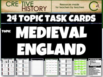 Medieval England History Task Cards