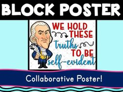 Thomas Jefferson Collaborative Poster! Team Work - Declaration of Independence