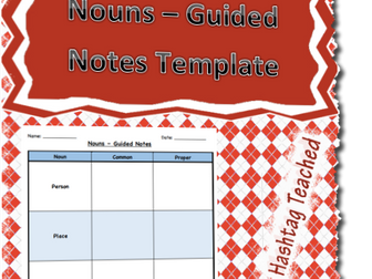 Nouns Guided Notes Template