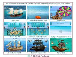 Restaurant and Activities Treasure Hunt Interactive English PowerPoint Game