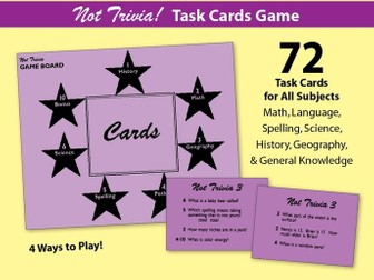 Not Trivia! Task Card Game for All Subjects - Grade 3