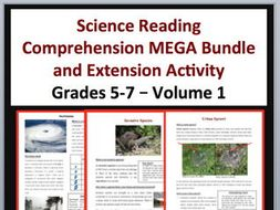 Science Article Bundle Volume 1 - 35 Science Reading Articles - Grades 5-7