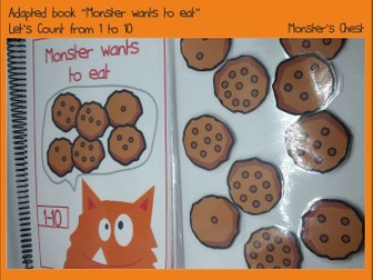 Basic Maths Adapted Book the Monster wants to eat