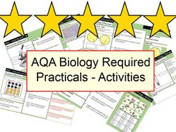 AQA Biology required practicals (ALL) Revision activities