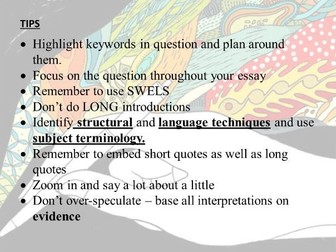 Top Tips for answering the EDUQAS unseen poetry section of the exam
