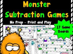 Monster Subtraction Games