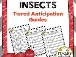 Insect Tiered Anticipation Guides