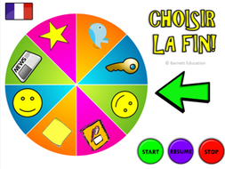 "French / MFL Plenary Wheel - Bright & Engaging end to lessons ""Choisir la fin"""