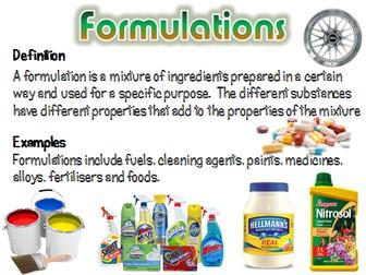 Formulations - AQA Chemistry / Trilogy 2016