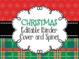 binder covers editable stylish christmas themed by nicadez
