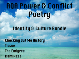 Power & Conflict Poetry- Identity and Culture Bundle-  AQA New Spec 2017