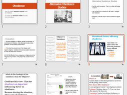 Situational Factors affecting Obedience - AQA Psychology