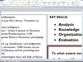 Edexcel Alevel History Crusades Essay Plans  Collected By  Alevel Essay Plan  Motivations I