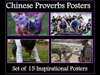 Chinese New Year - Chinese Proverbs Posters