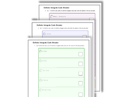 Definite Integrals Codebreaker - EXTRA