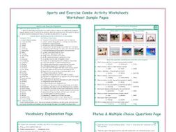 Sports and Exercise Combo Activity Worksheets