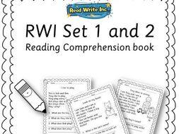 Reception/Year 1 reading comp book - RWI set 2: ay, ee, igh, ow, oo, oo, ar, or, air, ir, ou, o