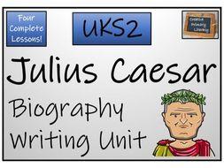 UKS2 Ancient Rome - Julius Caesar Biography Writing Unit