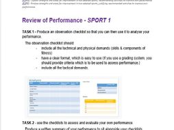 BTEC SPORT UNIT 2 Assignment 3 Template (Practical Sport) Analysis