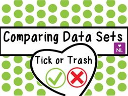 Comparing Data Sets Tick or Trash