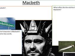 Character Map for Macbeth, Macbeth (Editable)