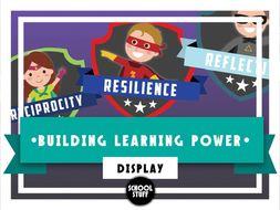 Building Learning Power Display - School Stuff