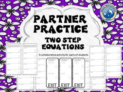 Partner Practice Two Step Equations