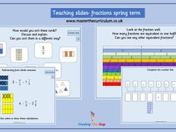 Year 4 - Editable Fraction Teaching Slides - White Rose Style