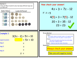 Solving Equations With Unknowns on both Sides Version 2 (notebook only)