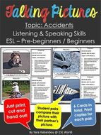 Talking Picture Cards {Accidents ESL Listening & Speaking}