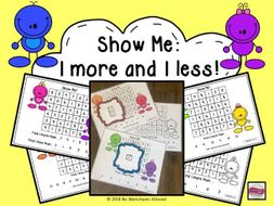 Maths 1 More Than and 1 Less Than Number Activity: Within 5, 10, 15 & 20