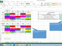 Outstanding Teacher Year Week and Lesson Planner Organiser