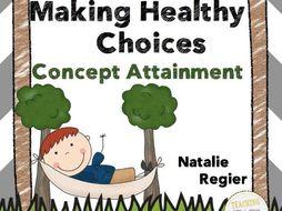 Making Healthy Choices: A Concept Attainment Lesson