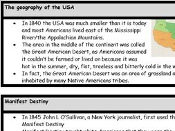 America: Expansion and Consolidation / American West revision notes / guide.