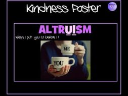 Kindness Poster - Altruism - When I put U before I