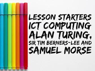 Lesson Starters - ICT/Computing