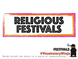 Religious Festivals Topic Vocabulary Pack