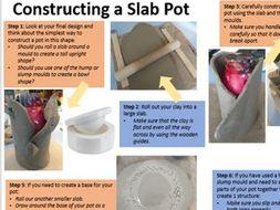 Slab Pot Construction Helpsheet - KS4 Ceramic Art