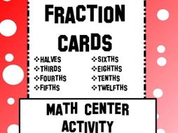 Fraction Matching Cards