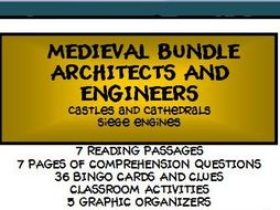 BUNDLE: MEDIEVAL ARCHITECTS AND ENGINEERS - CASTLES AND SIEGE ENGINES