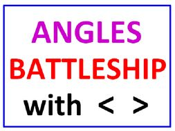 Angles Battleship with Greater Than Less Than