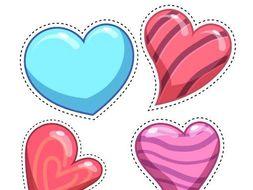 Valentines Heart Cutting Practice