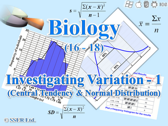 3.4.7.1 Statistics - Investigating Variation - 1 (Central Tendency & Normal Distribution)