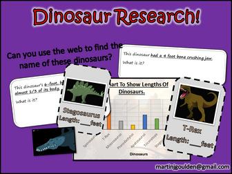 Dinosaurs - Computing Research Skills - 4 Lesson mini unit.