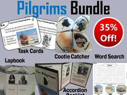 Pilgrims Task Cards and Activities Bundle